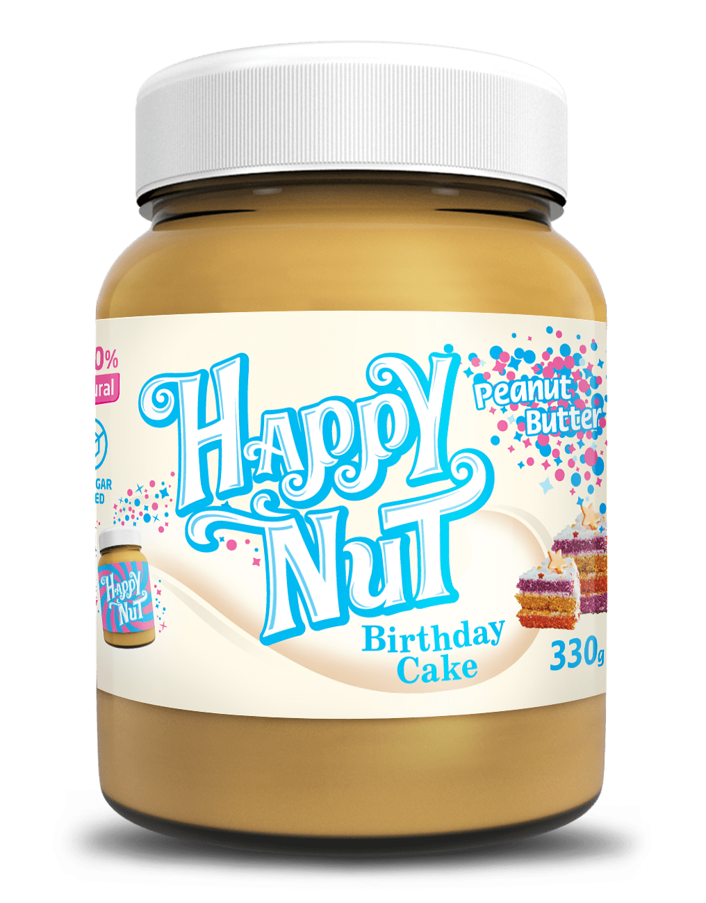 Арахисовая паста с праздничный торт Happy Nut, 330гр
