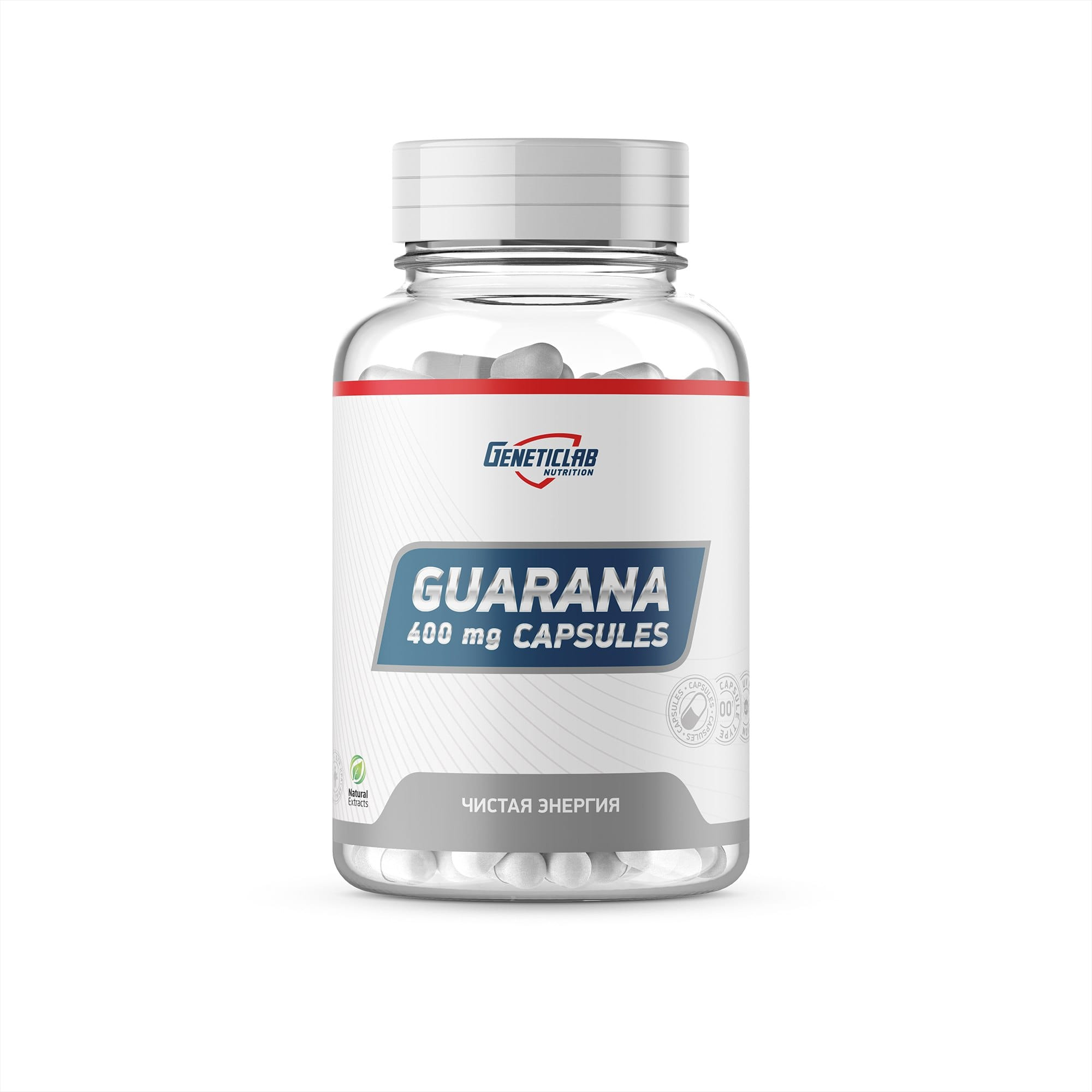 Гуарана Geneticlab Guarana, 60 caps